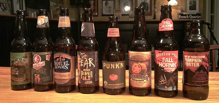 2014 pumpkin beer tasting