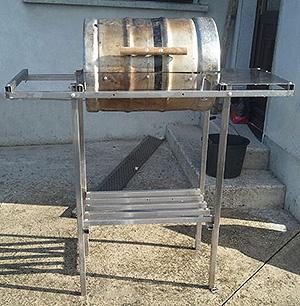 Keg grill