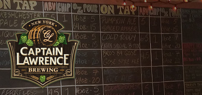 Captain Lawrence Brewery Chalkboard
